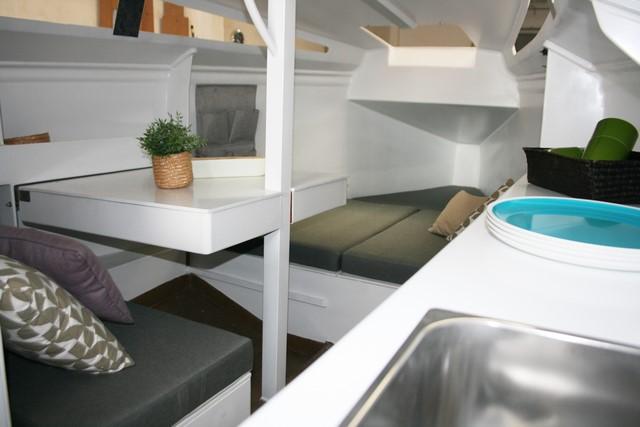 Un aspecto del interior de la embarcación.