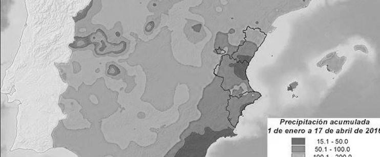 El fantasma de la sequía vuelve a cernirse sobre la Marina Alta en 2016