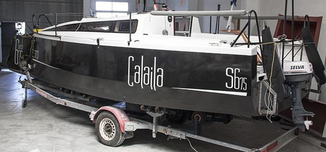 El primer Sarch 675 de la serie, prácticamente terminado en el taller de la empresa en Pego.
