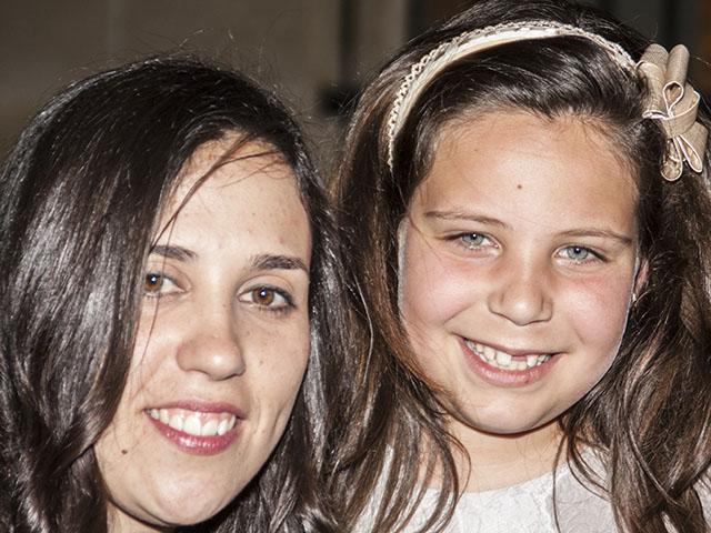 Inés Alacreu y Mar Cabrera, juntas en la recepción que tuvo lugar en el ayuntamiento tras conocer su elección.