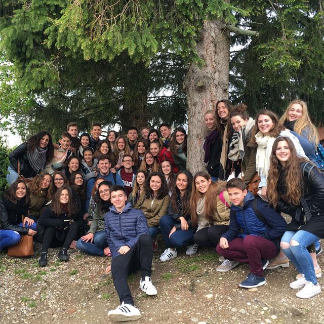 Alumnes de Gata de Gorgos a Pérouges.