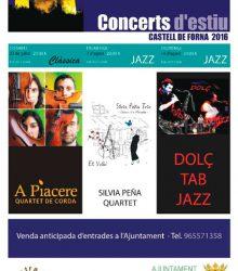 """""""Concerts d'estiu"""" al Castell de Forna."""