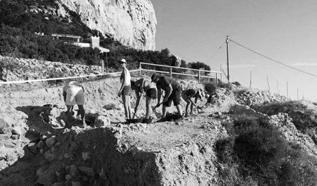 El MARQ refuerza los muros de la Pobla d'Ifac tras detectar riesgo de derrumbe