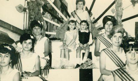 Foto de las primeras fiestas celebradas en honor a Santa María Magdalena el año 1966.