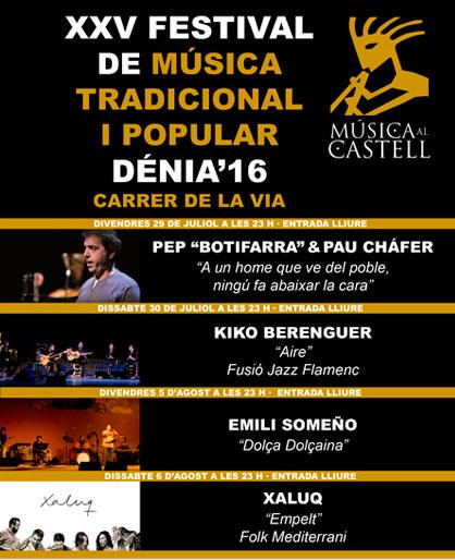 Música al Castell. Dénia. 2016