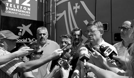 Ximo Puig tilda de acto terrorista el incendio de Xàbia y Benitatxell
