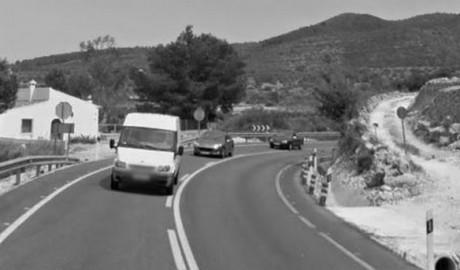 Cuatro heridos en un accidente múltiple en la N-332 entre Teulada y Gata