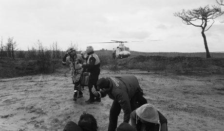 Evacuado en helicóptero tras caer de un caballo en la Granadella