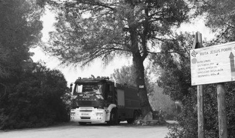 Una protesta de los Bomberos pone de manifiesto la falta de plantilla en el parque comarcal
