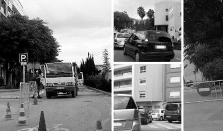 Caótica entrada a los colegios por las podas de arbolado en Dénia