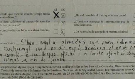Un vigilante de la Seguridad Social en Dénia niega el acceso a una mujer por hablarle en valenciano