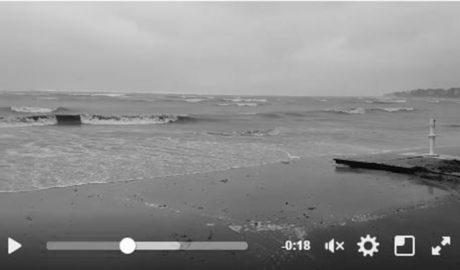 El temporal se traga las playas de Dénia