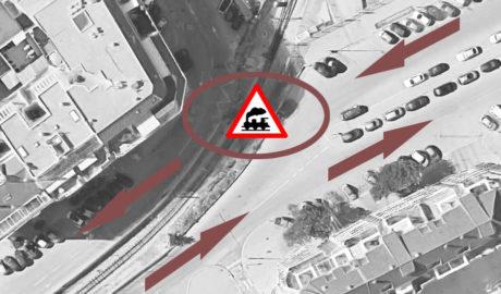 Dénia pide a FGV la apertura de un paso para cruzar la vía en Pintor Llorens y desdoblar el tráfico en la Ronda Sud