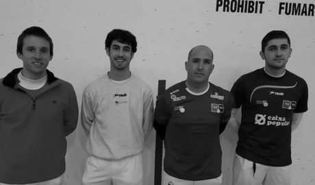 Ferrer y Fèlix ganan la última partida del año del Trinquet de Pedreguer