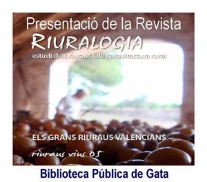 """Presentació del nº 5 la Revista """"Riuralogia"""" -Gata de Gorgos- @ Biblioteca Pública de Gata"""