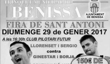 Dos tríos de excepción para la partida de la Fira de Sant Antoni de Benissa