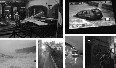 Vientos huracanados desatan el caos en Xàbia y causan destrozos en toda la Marina Alta