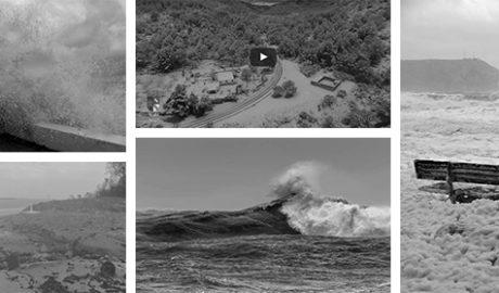 Siete días pendientes del cielo (las fotos y los vídeos del temporal)