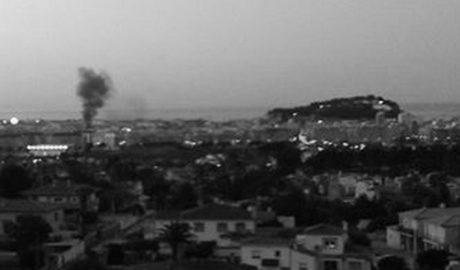Incendio de un contenedor en Dénia