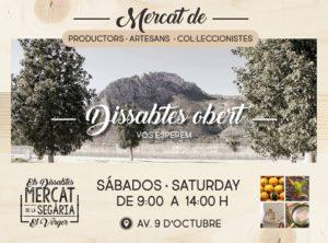 Mercat de Segària: mercado de productores agrícolas, artesanos y coleccionistas -El Verger- @ Av. 9 d'Octubre
