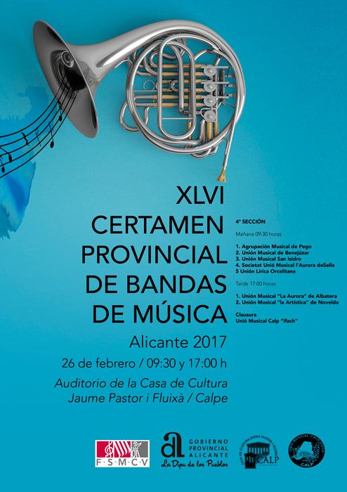 XLVI Certamen Provincial de Bandas de Música -Calp- @ Casa de Cultura