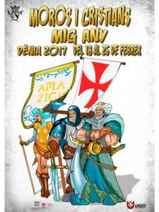 Mig Any de Moros i Cristians: presentación de cargos y Entrega de Premios Concurso Dibujo -Dénia-