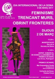 Concentració manifestació comarcal i lectura del manifest del Dia de la Dona -Dénia- @ Glorieta