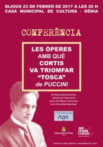 "Conferencia: ""Las óperas con que Cortis triunfó. Tosca"" por Íñigo Goñi Echeverría -Dénia- @ Casa Municipal de Cultura"