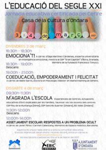 """Jornada """"L'Educació del segle XXI"""" -Ondara- @ Casa de Cultura"""