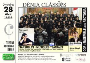 Festival Dénia Clàssics: Homenaje al Tenor Cortis por el Cor i Ensemble de la Rectoria -Dénia- @ Teatre Auditori Centre Social | Dénia | Comunidad Valenciana | España