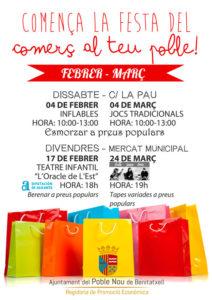 """Festa del Comerç """"Al teu Poble"""": comerç, gastronomia i concert de Folk Jazz Trio -Benitatxell-"""