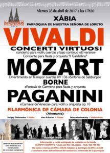 Concierto de la Orquesta de Cámara Filarmonía de Colonia -Xàbia- @ Parroquia Nuestra Señora del Loreto