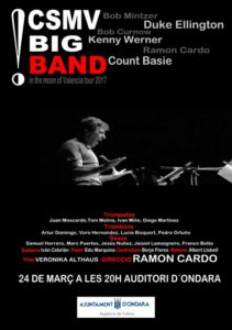 Jazz: Concierto de la CSMV Big Band -Ondara- @ Auditori Municipal de Ondara