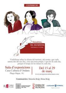 """Exposició: """"Nosaltres, les escriptores. Valencianes en el temps"""". """"Mes de la Igualtat"""" -Ondara- @ Casa de Cultura  d' Ondara"""