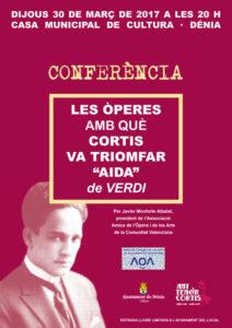 """Conferencia: """"Las óperas con las que Cortis triunfó. Aida de Verdi"""" por Javier Monforte -Dénia- @ Casa Municipal de Cultura. Dénia"""
