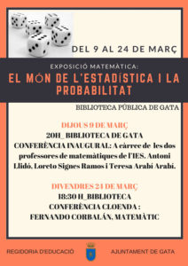 "Exposición: ""El Món de l'estadística i la probabilitat"" -Dénia- @ Biblioteca de Gata de Gorgos"