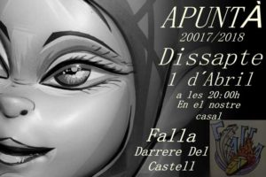 Inscripcions a la Falla Darrere del Castell -Dénia- @ C/sant Roc, Dénia