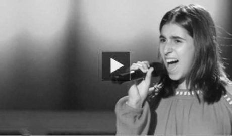 Telecinco descubre la voz prodigiosa de una niña de Benidoleig