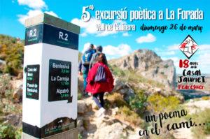 """V Excursió Poètica a La Foradà: """"Un Poema en el Camí"""" -Pedreguer- @ Des de Placeta de Benissivà"""