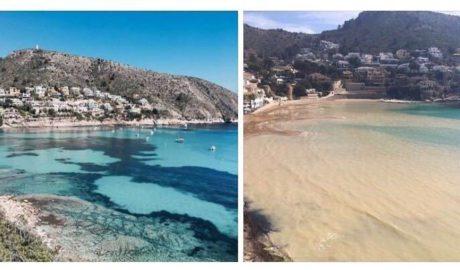 Más de 1.500 personas alertan de que los vertidos de arena de Costas destruirán el paraíso de Moraira