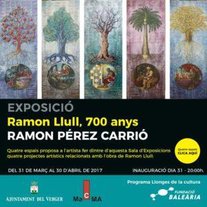 Exposició 'Ramon Llull, 700 anys' de Ramon Pérez Carrió -El Verger- @  'Llonja de Cultura' Torre dels Ducs de Medinaceli d'El Verger