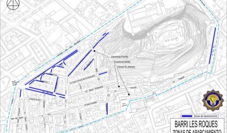 Cinco días para la entrada en vigor de la prohibición de aparcar en les Roques de Dénia