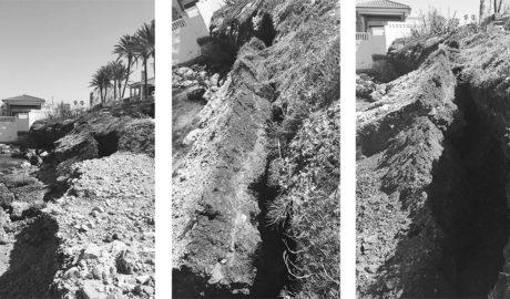 Unos 30 metros del paseo de les Rotes de Dénia se desmoronan sobre el mar entre el Helios y El Pegolí