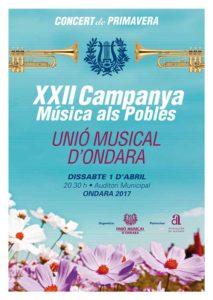 Concert de Proimavera de la Unió Musical d'Ondara, la U.M.O. -Ondara- @ Auditori Municipal