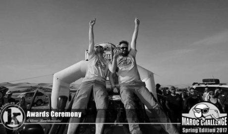 Gaspar Ruiz y su Tronquet 71 reparten solidaridad en Marruecos y además hacen podio
