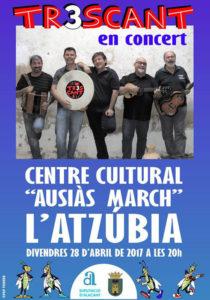 Concert de Tr3scant -L'Atzúbia- @ Centre Cultura Ausiàs March, L'Atzúbia