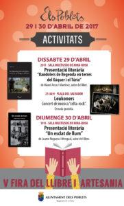 V Fira del Llibre i d'Artesania & la II Fira del Comerç i Gastronomia -Els Poblets- @ Els Poblets