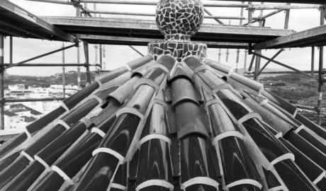 La cúpula de la iglesia de Benitatxell recobra todo su esplendor modernista