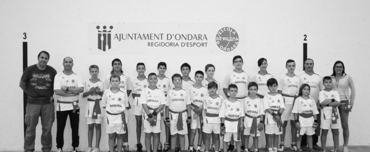 Pleno de l'Escola de Pilota de Ondara: todos sus equipos clasificados para las finales provinciales de raspall
