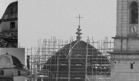 [FOTOGALERÍA] El antes y el después de la cúpula de Pego una vez concluída su difícil restauración